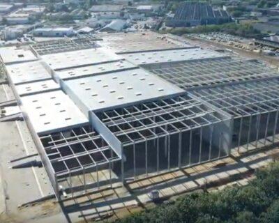 Des nouvelles du chantier IDEC de la plate-forme logistique pour Lidl à Carquefou.