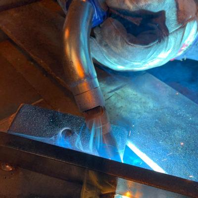 SML a terminé hier le déploiement des torches aspirantes dans son atelier.